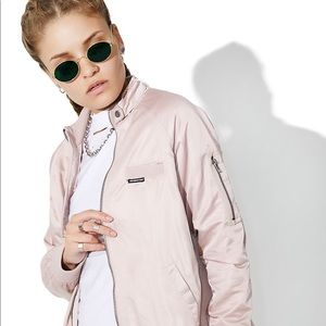 SOLD Members only blush bomber jacket